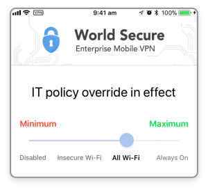 World Secure Selector - Corporate Override