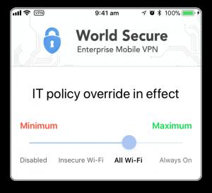 World Secure Selector - Corporate Override