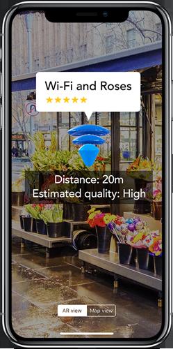 World Wi-Fi Augmented Reality View